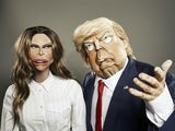 Donald Trump and Melania Trump on Spitting Image