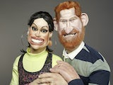 Prince Harry and Meghan Markle on Spitting Image