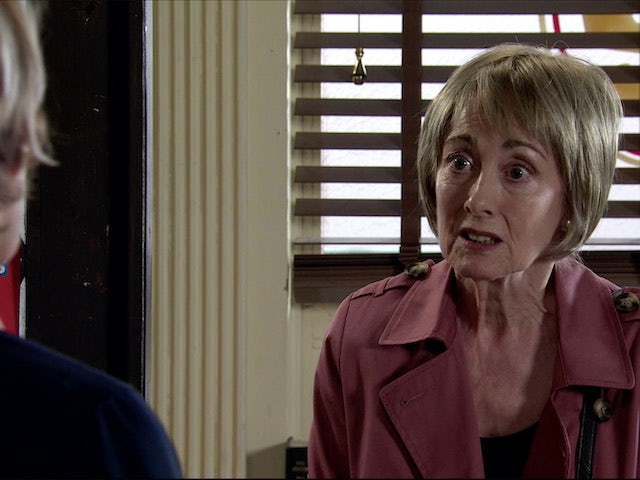 Elaine on Coronation Street on August 3, 2020