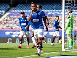 Rangers striker Alfredo Morelos celebrates scoring against St Mirren in the Scottish Premiership on August 9, 2020