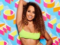 Amber Gill on Love Island in 2019