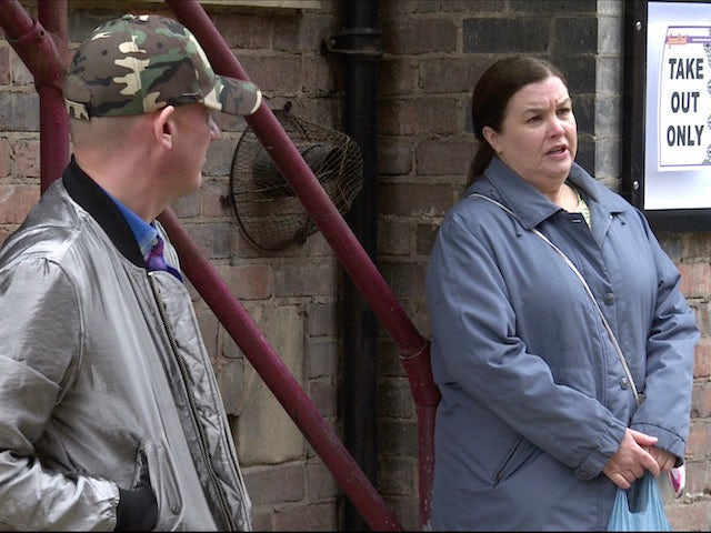 Sean and Mary on Coronation Street on August 19, 2020
