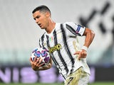 Cristiano Ronaldo celebrates scoring for Juve on August 7, 2020