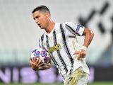 Cristiano Ronaldo celebrates scoring for Juve on August 7, 2020