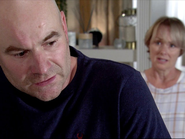 Tim and Sally on Coronation Street on August 14, 2020