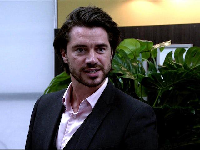 Adam on Coronation Street on August 12, 2020