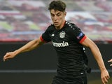 Kai Havertz in action for Bayer Leverkusen on August 6, 2020