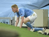 Kevin De Bruyne in action for Man City on August 7, 2020