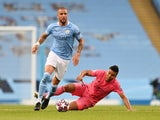 Kyle walker in action for Manchester City against Real Madrid in the Champions League in August 2020