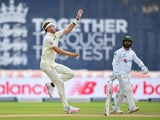 England's Stuart Broad in action against Pakistan on August 7, 2020