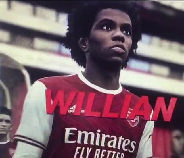 Willian shown in an Arsenal kit *NOT TO BE USED AS ARTICLE OR INDEX IMAGE ID, ONLY FOR INSERTING INTO AN ARTICLE*
