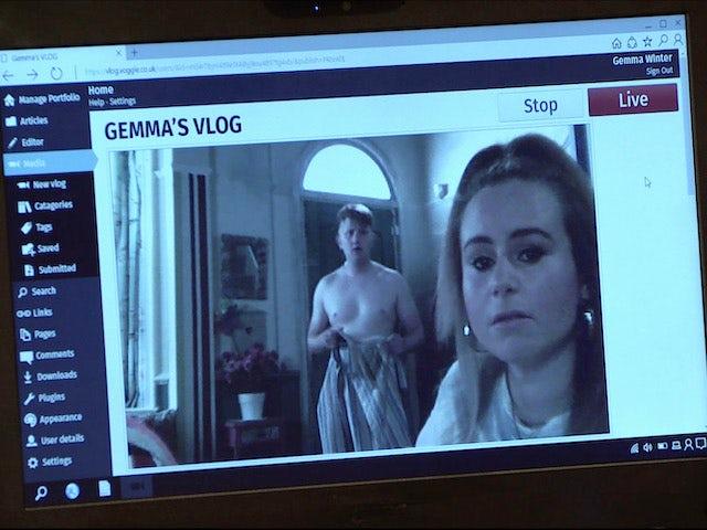 Gemma's vlog on Coronation Street on August 10, 2020