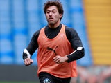 Kem Cetinay during Soccer Aid training on June 13, 2019