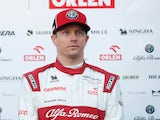 Kimi Raikkonen pictured in February 2020