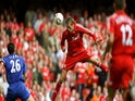 Peter Crouch scores for Liverpool against Chelsea in the 2006 Community Shield