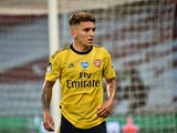 Arsenal midfielder Lucas Torreira pictured in July 2020