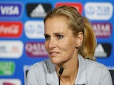 Sarina Wiegman pictured in charge of the Netherlands in 2019