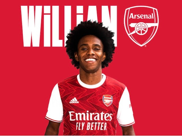Arsenal complete signing of Willian on three-year deal