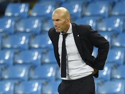 Real Madrid manager Zinedine Zidane pictured on August 7, 2020