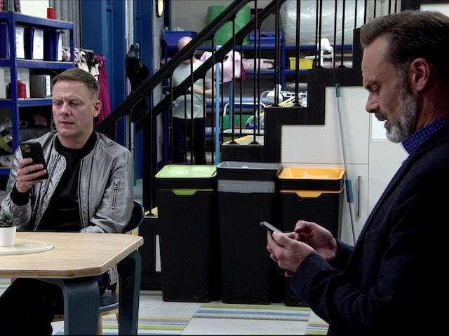 Sean and Billy on Coronation Street on August 28, 2020