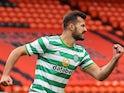 Albian Ajeti celebrates scoring for Celtic on August 22, 2020