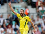 Andrew Tye pictured for Australia against England in 2018