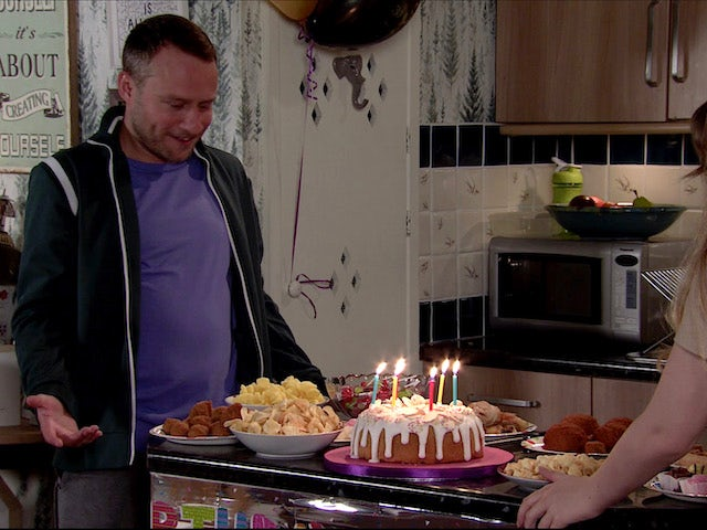 Paul is surprised on Coronation Street on August 24, 2020