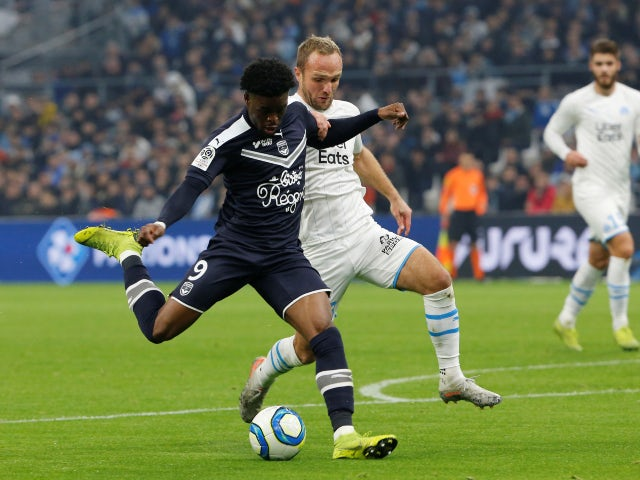 Bordeaux forward Josh Maja pictured against Marseille in December 2019
