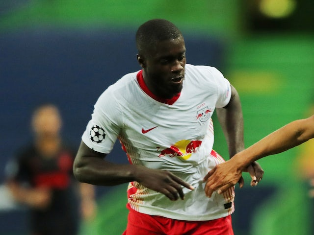 RB Leipzig defender Dayot Upamecano pictured on August 13, 2020