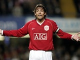 Gabriel Heinze pictured for Manchester United in 2007