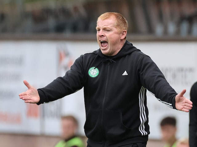 Neil Lennon bemoans striker troubles after Celtic beat Motherwell