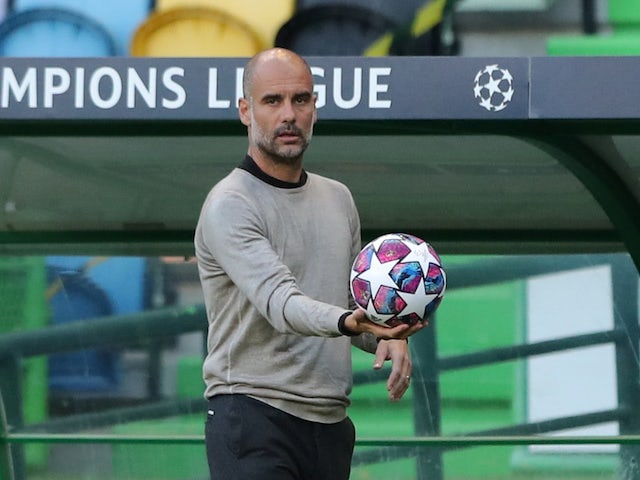 Manchester City manager Pep Guardiola pictured in August 2020