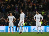 PSG players look dejected after losing to Barcelona in the 2016-17 Champions League