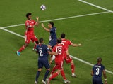 Bayern Munich's Kingsley Coman scores against Paris Saint-Germain in the Champions League final on August 23, 2020