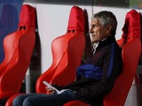 Barcelona boss Quique Setien watches on as his side are dismantled by Bayern Munich on August 15, 2020