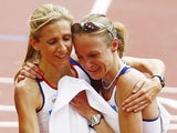 Paula Radcliffe in tears after finishing the marathon at the 2008 Olympics