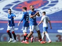 Rangers forward Kemar Roofe celebrates scoring against Kilmarnock on August 22, 2020