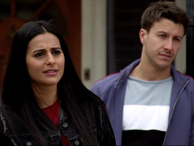 Alya and Ryan on Coronation Street on August 28, 2020