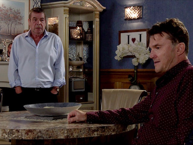 Scott and Johnny on Coronation Street on August 28, 2020