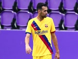 Barcelona midfielder Sergio Busquets pictured in July 2020
