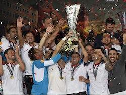 Sevilla celebrate winning the Europa League in 2016