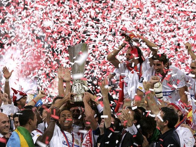 Sevilla celebrate winning the Europa League in 2006