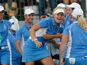 Team Europe celebrate during the 2013 Solheim Cup
