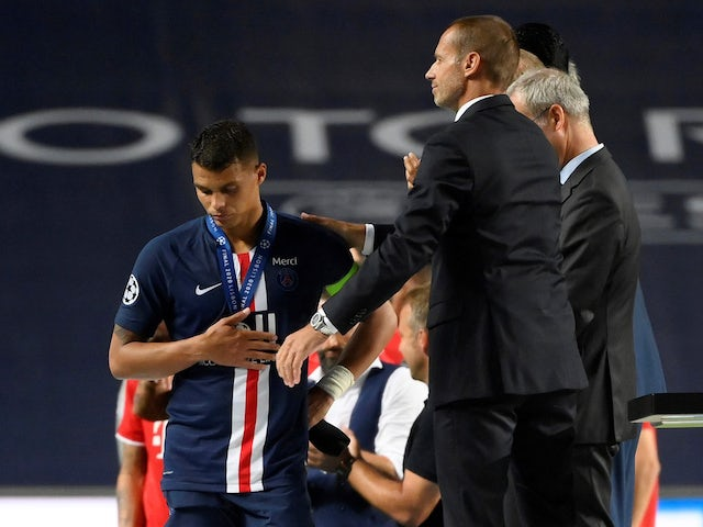 Paris Saint-Germain's Thiago Silva in the aftermath of the Champions League final on August 23, 2020