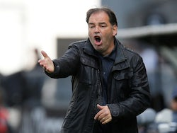 Angers manager Stephane Moulin pictured in May 2019