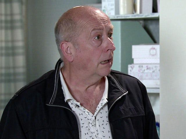 Geoff on Coronation Street on September 9, 2020
