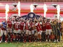Arsenal celebrate winning the 2019-20 FA Cup final