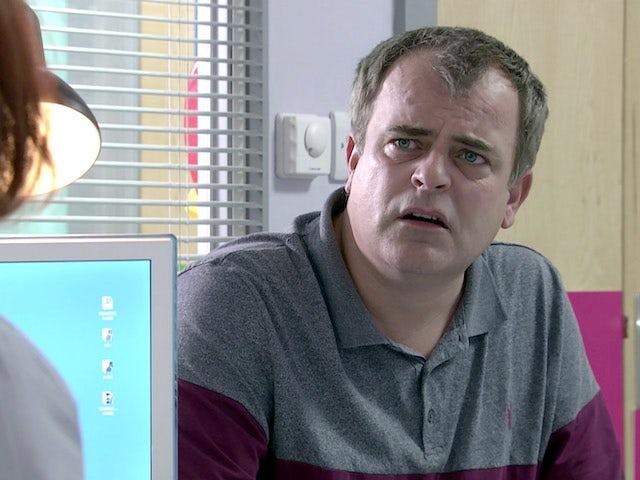 Steve on Coronation Street's second episode on September 11, 2020