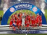 Bayern Munich celebrate winning the Champions League on August 23, 2020