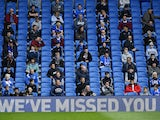 A general shot of fans in the Amex Stadium as a trial in the friendly with Chelsea on August 29, 2020